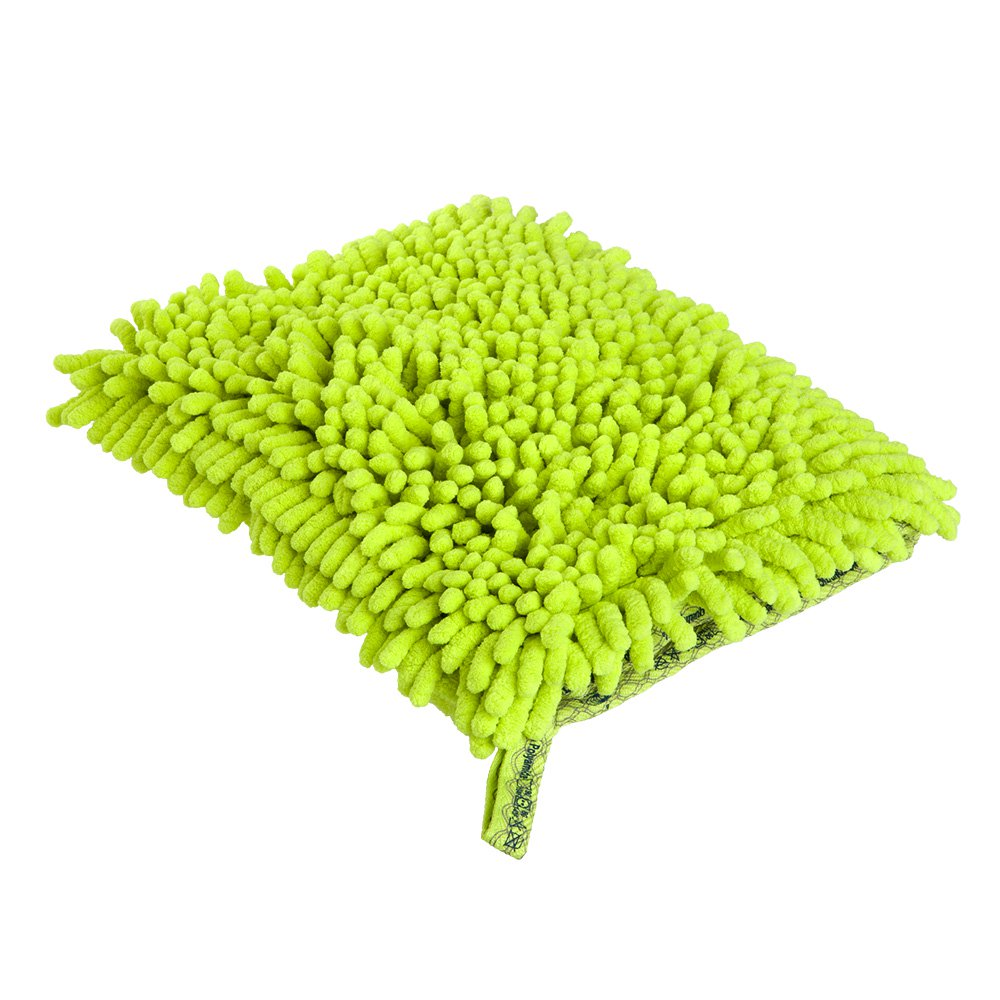 Car Wash Mitt Green, Car Cloth Graphite