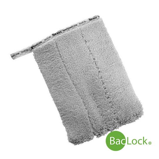 Grey Bathroom Scrub Mitt