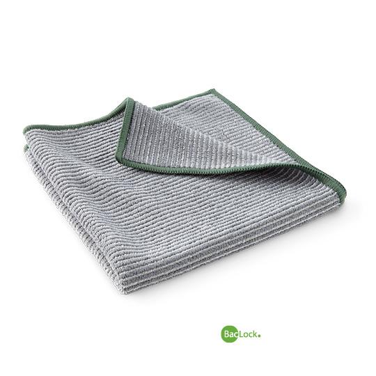 Bamboo Multi-Purpose Cloth - Graphite w/ Green Trim