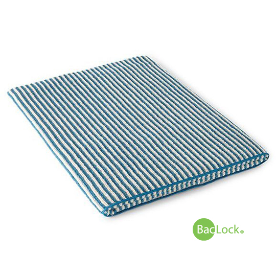 Striped Bath Towel - Teal/Vanilla