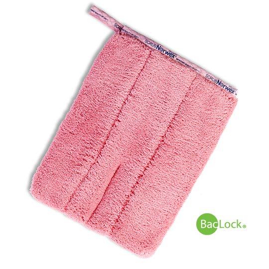 Pink Bathroom Scrub Mitt