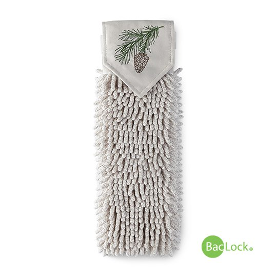 Pinecone Chenille Hand Towel, heathered oatmeal