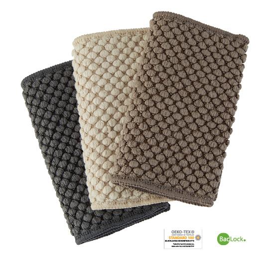 Counter Cloths Recycled Mushroom, Slate, Vanilla, Set of 3