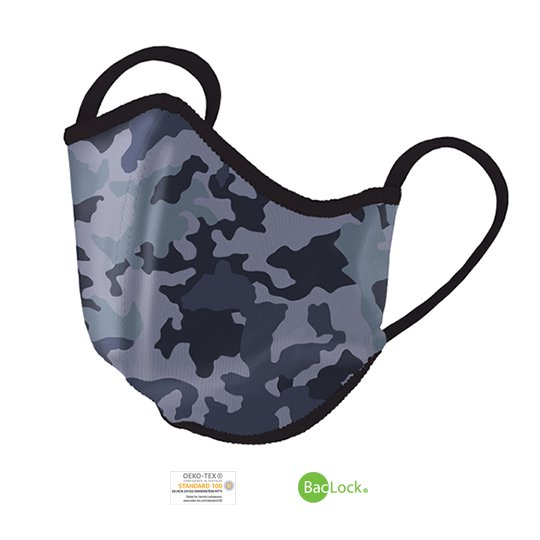 Norwex Reusable Face Mask with BacLock®, Adult - blue camo