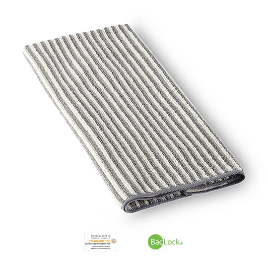 Hand Towel, graphite/vanilla stripes
