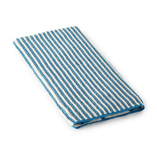 Striped Hand Towel - Teal/Vanilla