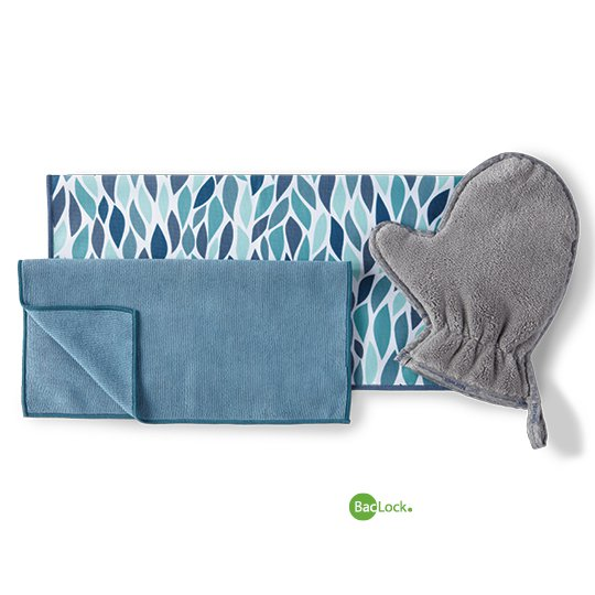 Household Package - (Enviro - Teal, Window - Leaves, Dust Mitt - Graphite)