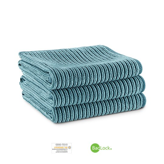 Kitchen Cloth Trio (Teal)