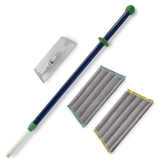Superior Mini Mop Starter System - blue/green handle