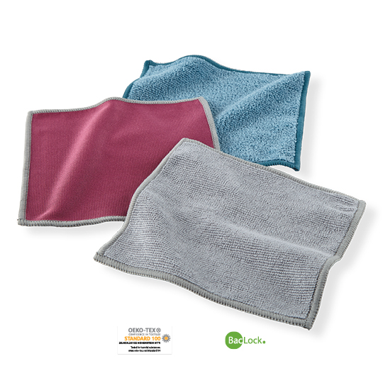 Mini Microfiber Variety Pack (MVP) - graphite, teal, plum with graphite trim