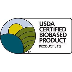 USDA Biobased  Certified 81%