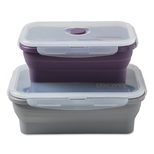 Silicone Food Storage Containers, L/XL (set of 2)