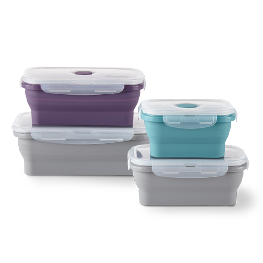 Silicone Food Storage Container Set (pack of 4)